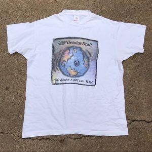 Vintage Miller Genuine Draft Earth T-shirt